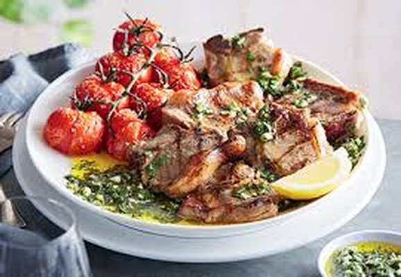 Basil Mint Lamb Chops