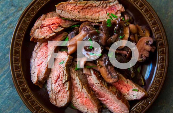 Grilled Steak and Mushrooms